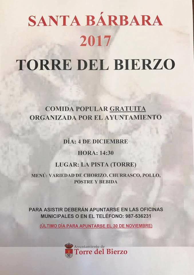 Comida popular Santa Bárbara 2017