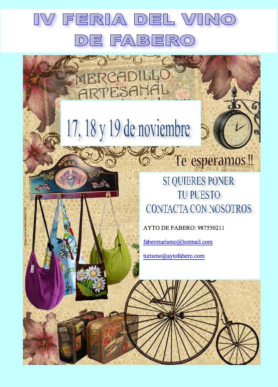 IV Feria del Vino y Mercado Artesano en Fabero 3