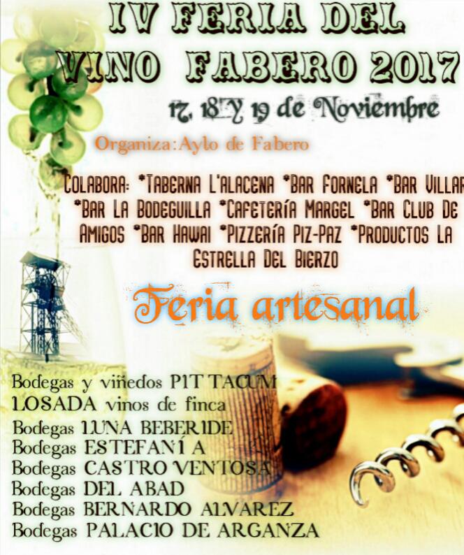 IV Feria del Vino y Mercado Artesano en Fabero