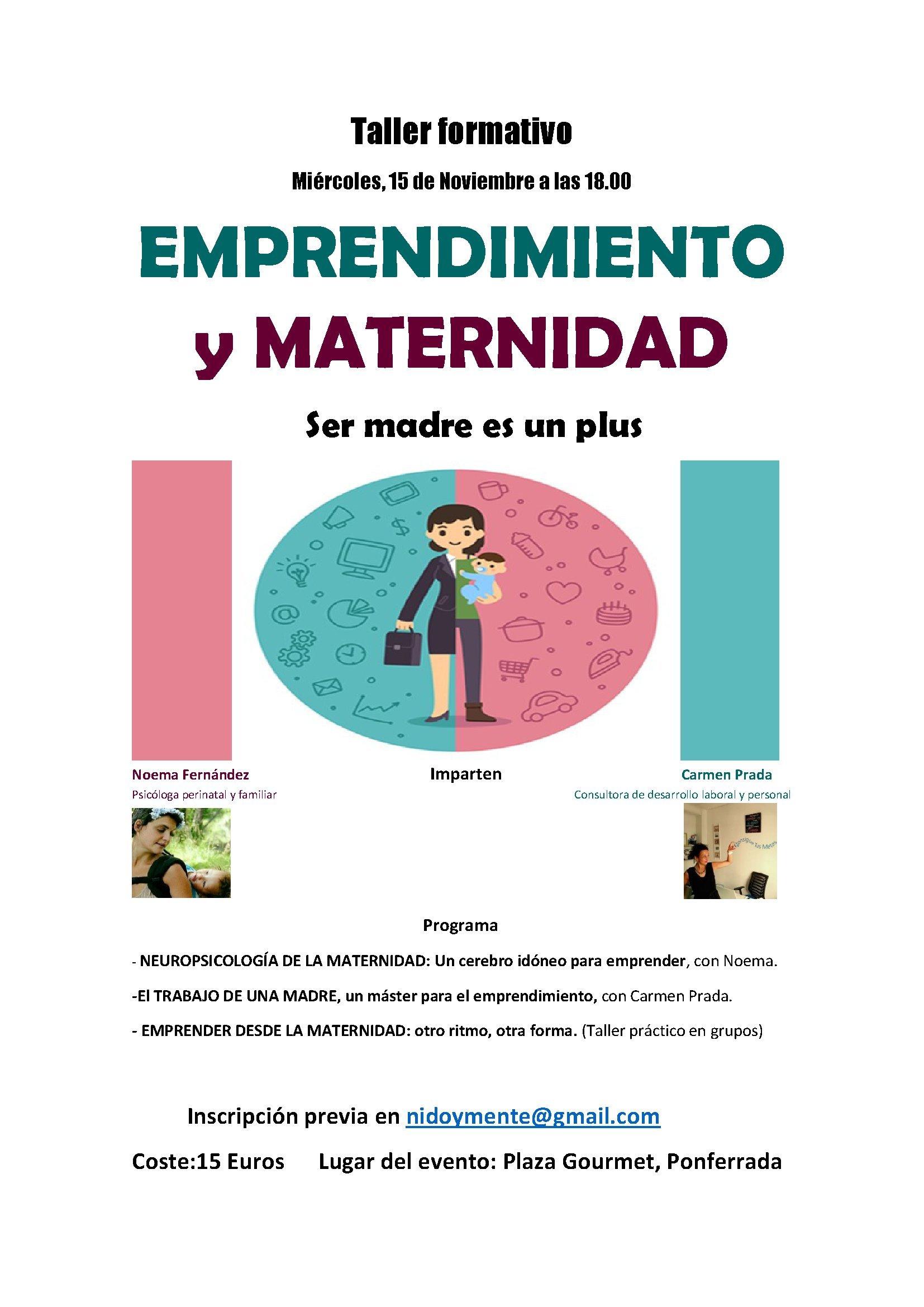Evento emprendimiento y maternidad
