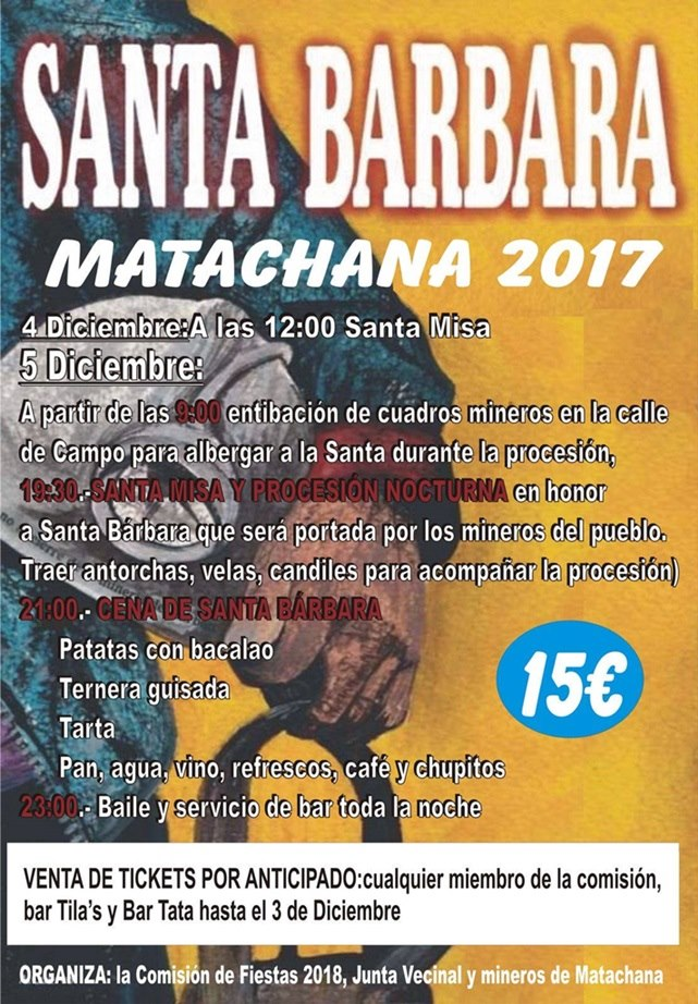 Fiesta de Santa Bárbara en Matachana 2017