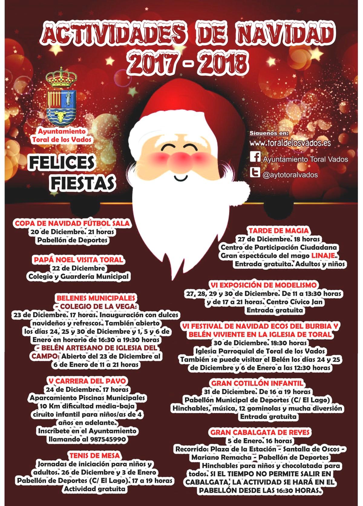 Actividades navidad 2017 en Toral de los Vados 2
