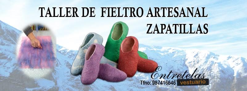 "Taller de fieltro artesanal "" zapatillas"""