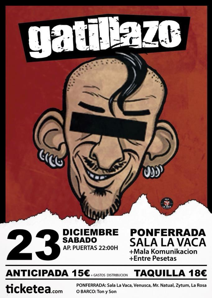 'Gatillazo' en concierto la víspera de Nochebuena en La Vaca 2