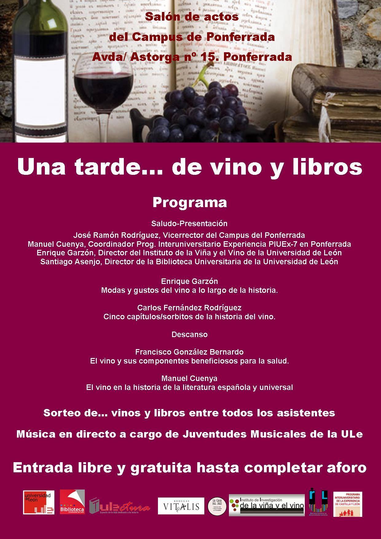 Una tarde... de vino y libros