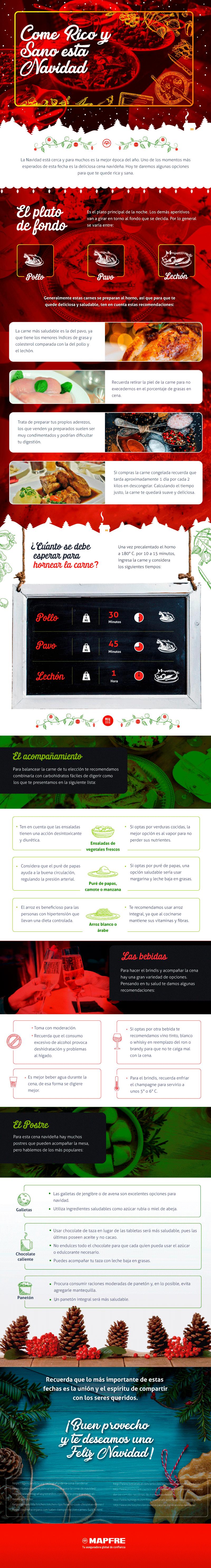 Consejos para comer sano durante estas fiestas - Infografía - 2