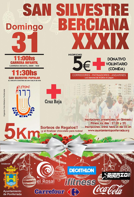 XXXIX San Silvestre Berciana 2017. Solidaria Cruz Roja
