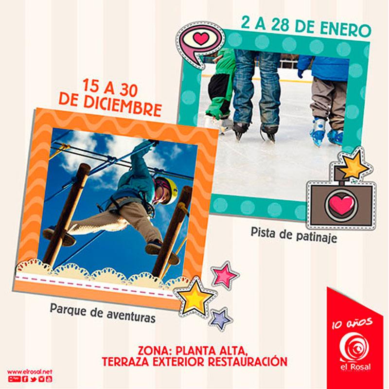El Centro Comercial El Rosal monta su propio parque de aventuras 2