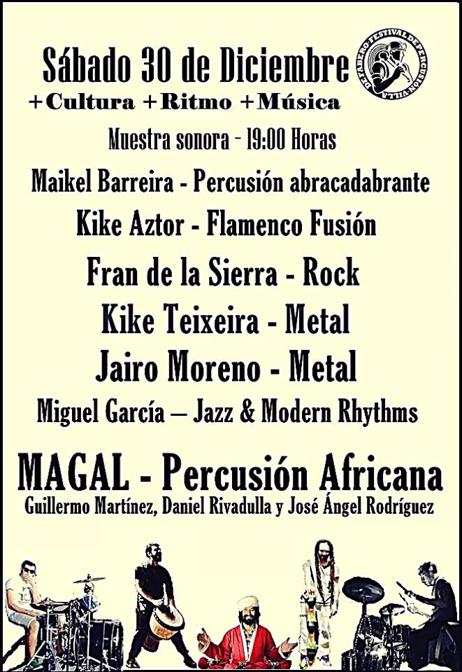 Fabero cierra el 2017 con la tercera edición del Festival de percusión 'Villa de Fabero' 2