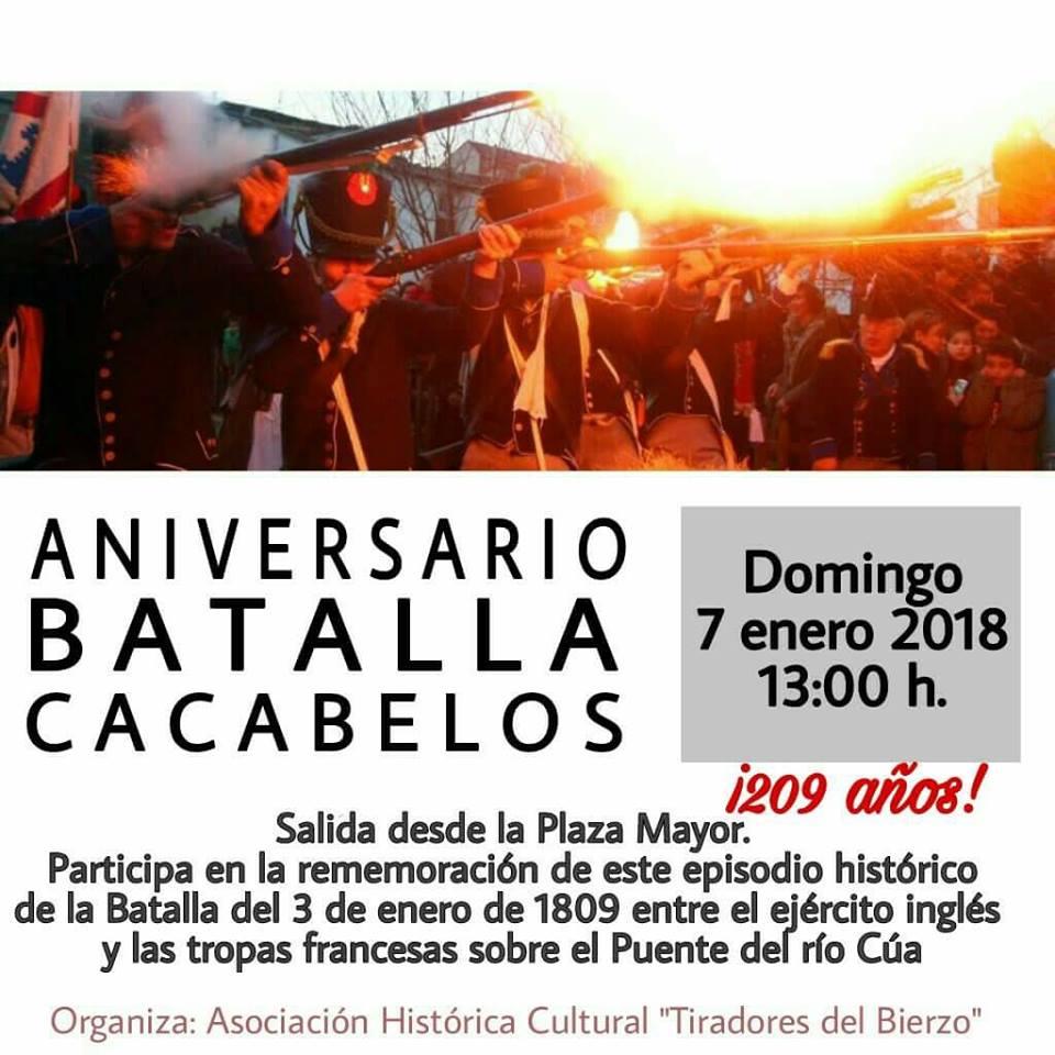 Acto de rememoración de la batalla de Cacabelos en su 209 Aniversario 2