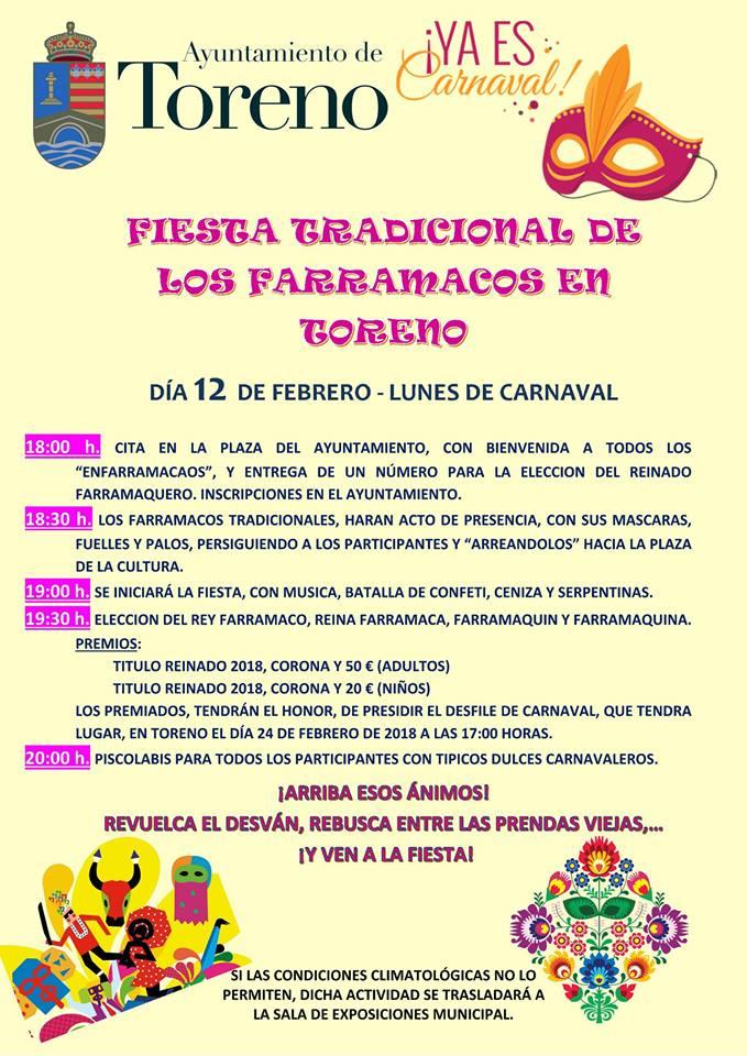 Toreno anuncia sus actividades de Carnaval 2