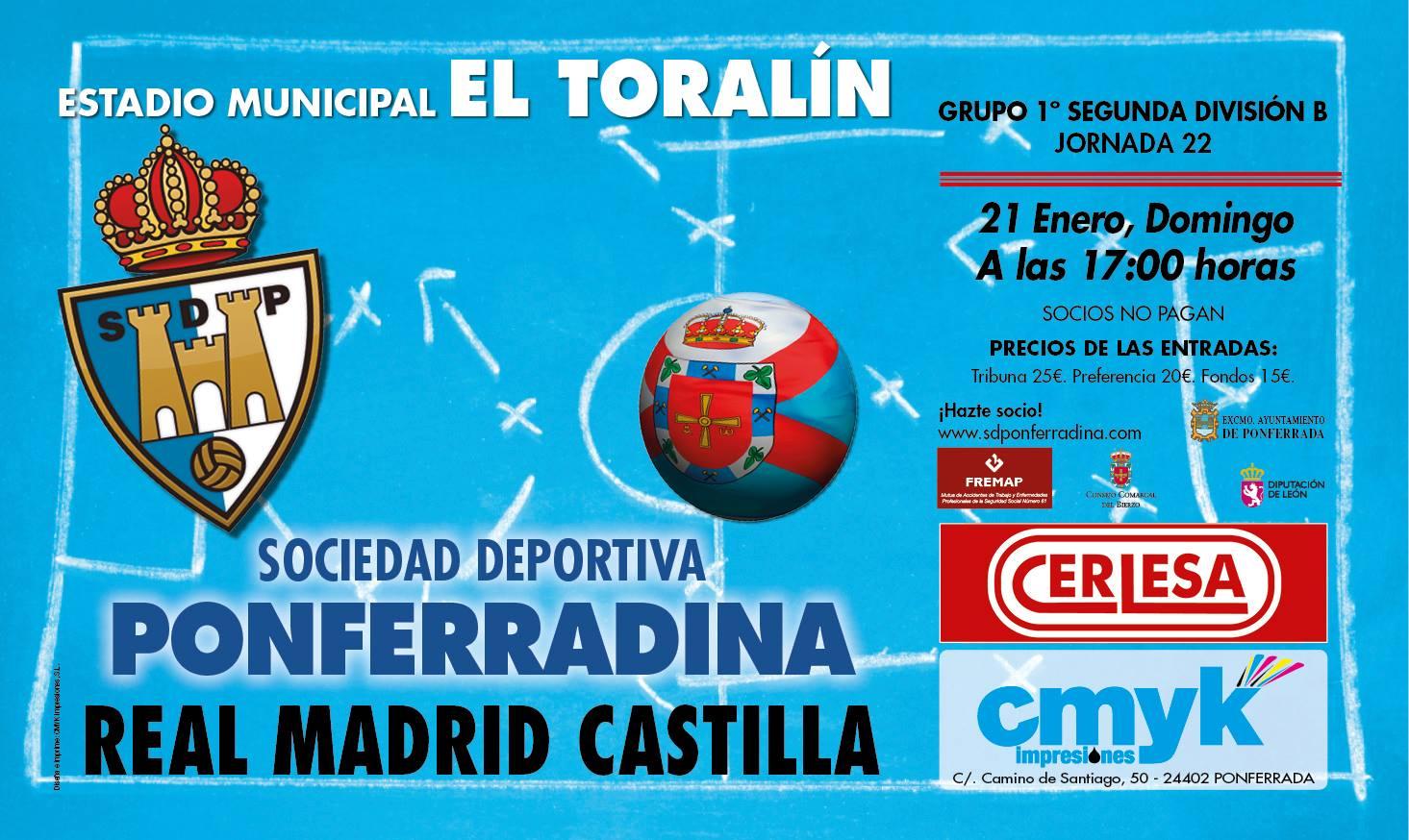 Fútbol: SD Ponferradina - Real Madrid Castilla 4