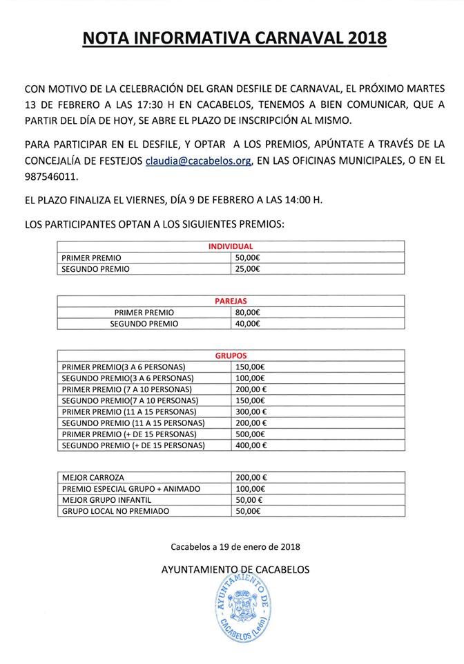 Carnaval Cacabelos 2018 3