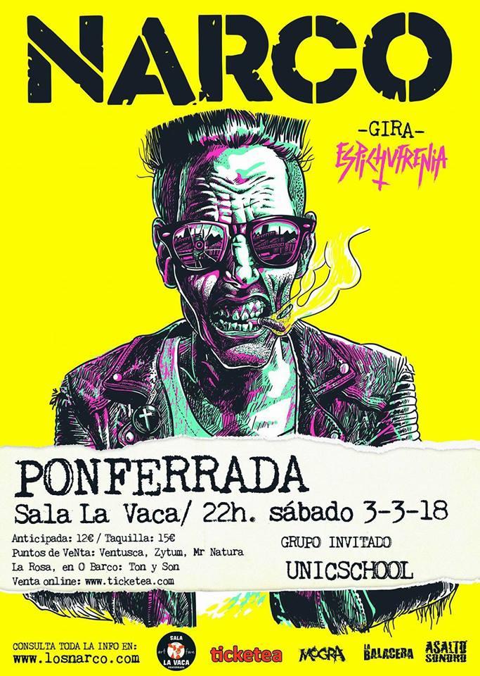 Narco acerca el Sábado su Gira 'Espichufrenia' a Ponferrada 2
