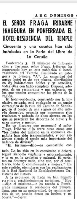 50 años del Hotel del Temple en Ponferrada, el capricho de Pedro Barrios 4