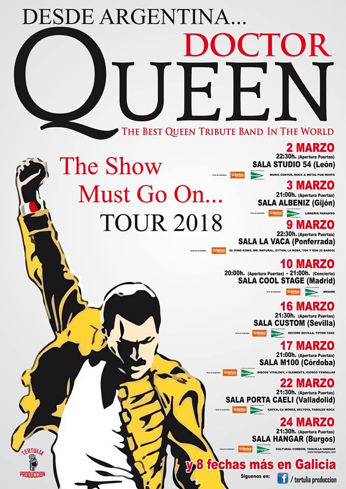 Dr Queen resucitará el espíritu de Queen en la Sala La Vaca 2