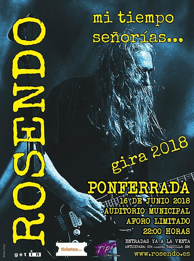 Rosendo pasará por Ponferrada en su gira de despedida 'Mi tiempo señorías...' 2