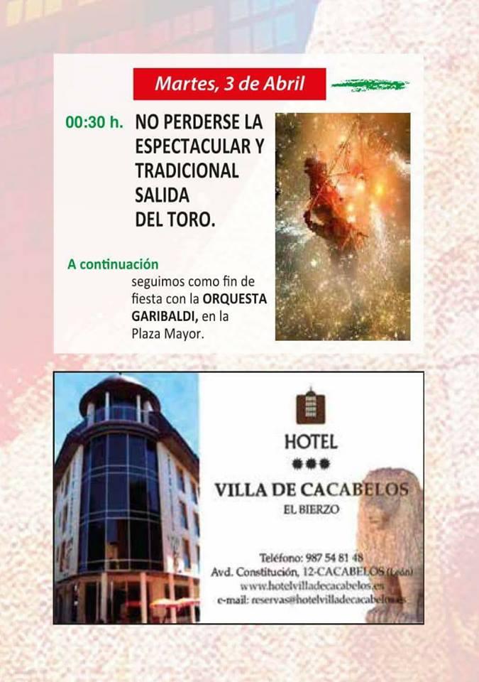 Fiestas de Pascua de Cacabelos 2018. Programa y actividades 9