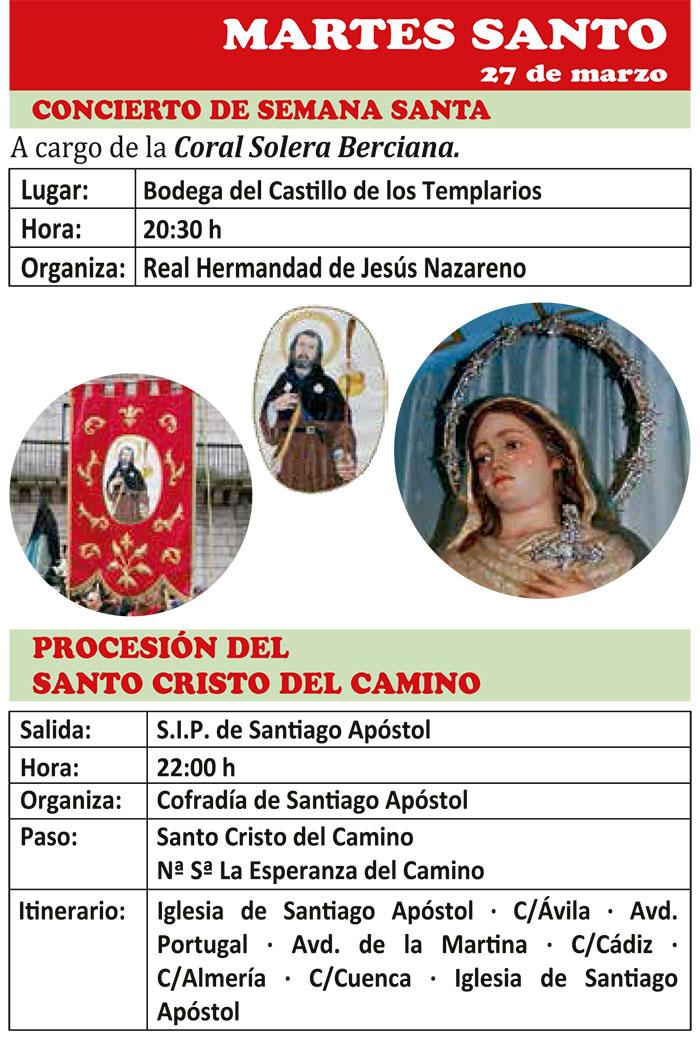 Semana Santa de ponferrada 2018. Programa y actividades 14