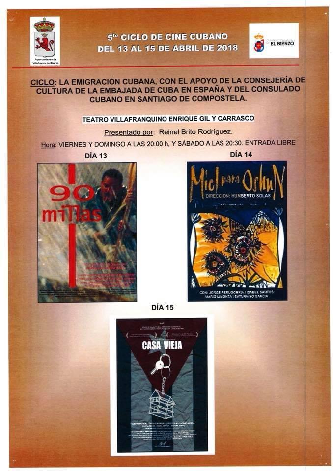 """Villafranca organiza el 5º Ciclo de Cine Cubano, """"La Emigración Cubana"""" 2"""