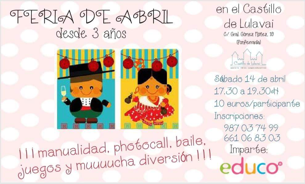 Feria de abril para ni s ponferradahoy for Abril salon de fiestas