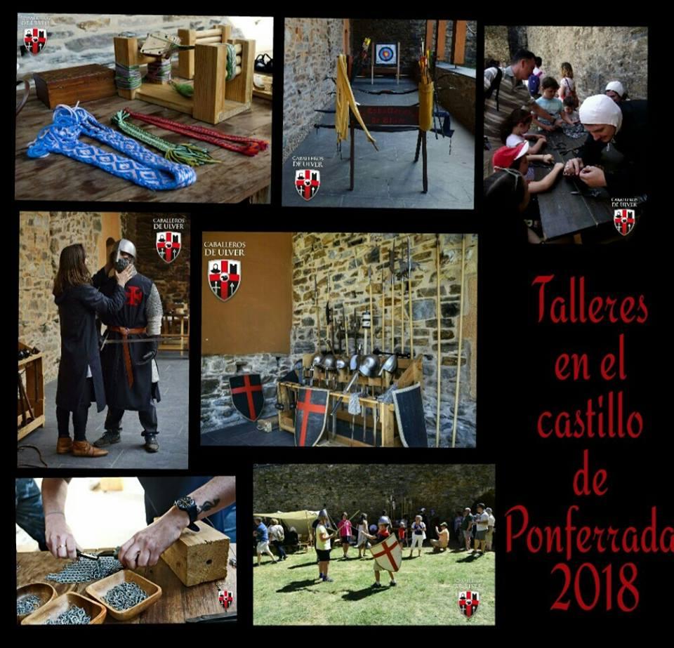 Los caballeros de Ulver impartirán durante el puente talleres medievales en el Castillo de los Templarios de Ponferrada 2