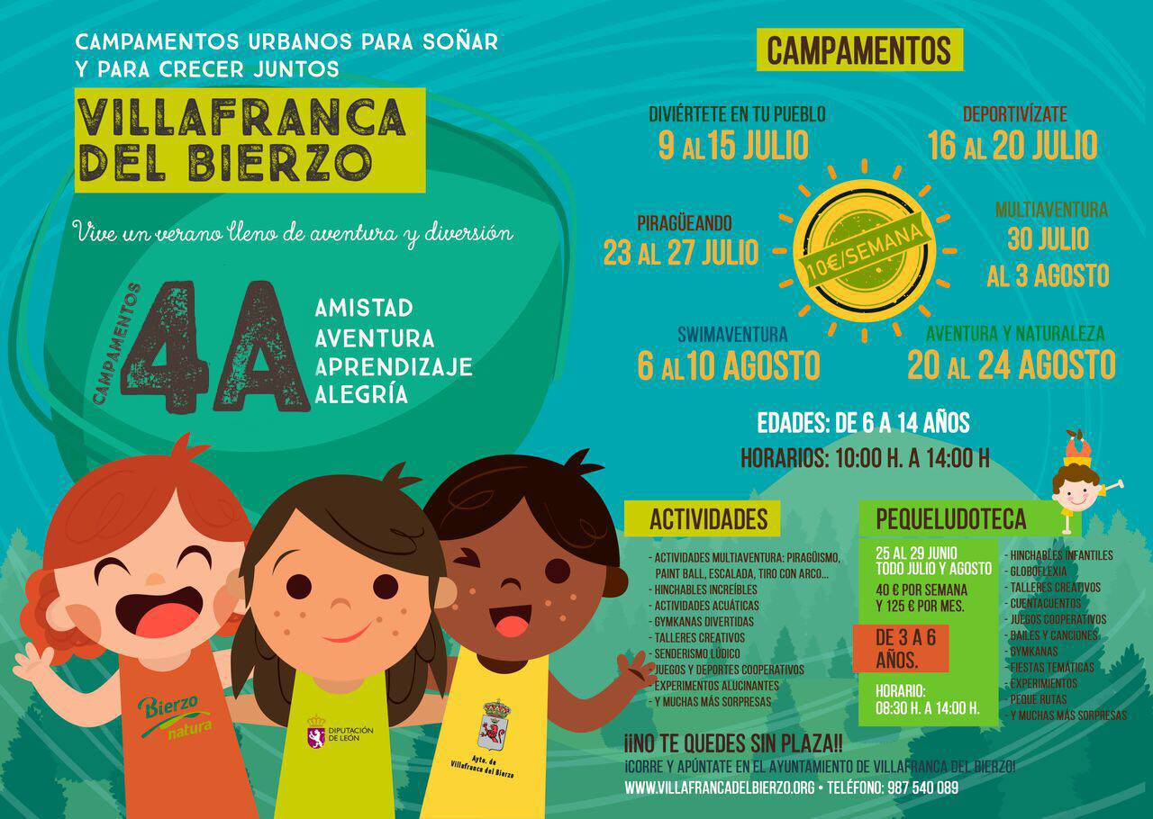 Campamentos de verano para niños 2018 en Ponferrada y El Bierzo 38