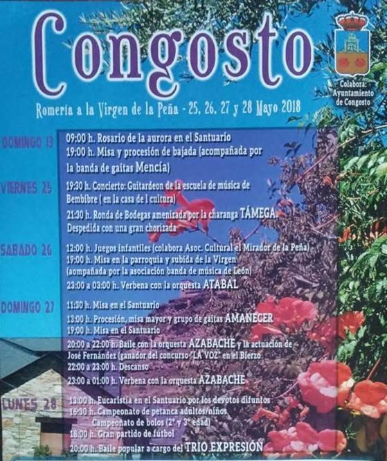 Grandes fiestas en Congosto y Romería a la Virgen de la Peña 2018 2