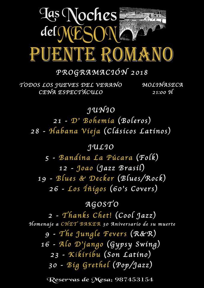 Vuelven las noches musicales del Mesón Puente Romano 2