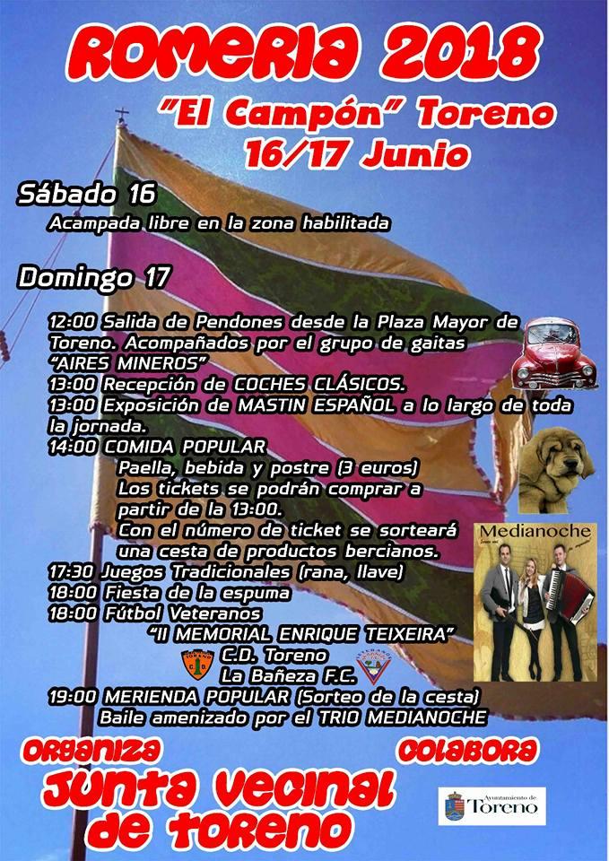 El domingo se celebra romería en El Campón' de Toreno 2