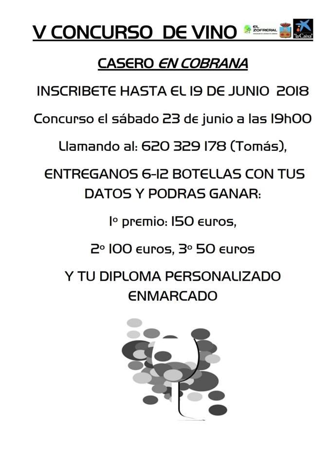 Cobrana organiza su V Concurso de vino casero 2