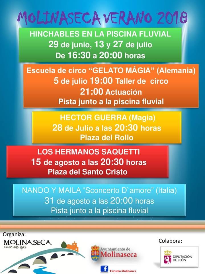 Hinchables y magia este fin de semana en Molinaseca 2