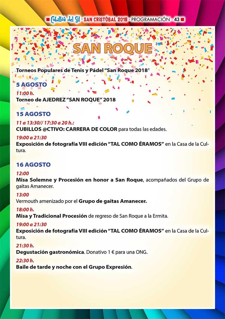 Fiestas de San Cristobal 2018 en Cubillos del Sil. Programación 7