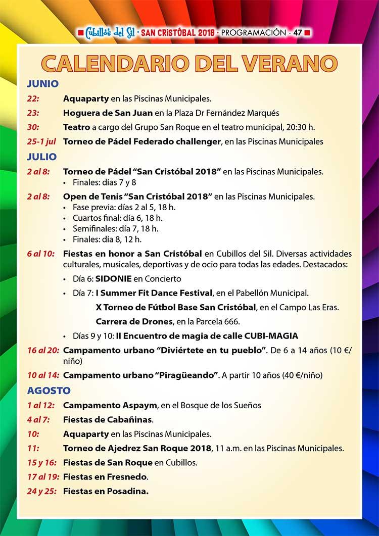 Fiestas de San Cristobal 2018 en Cubillos del Sil. Programación 8