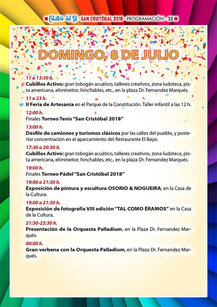 Fiestas de San Cristobal 2018 en Cubillos del Sil. Programación 4