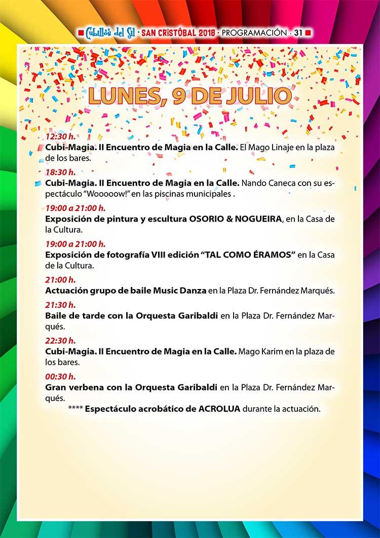 Fiestas de San Cristobal 2018 en Cubillos del Sil. Programación 5