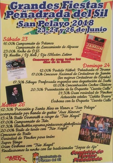 Fiestas en honor a San pelayo 2018 2