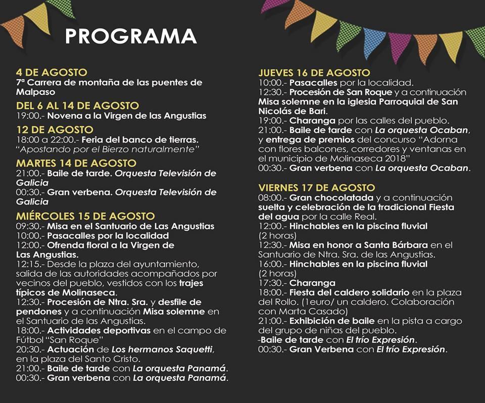 Fiestas de Molinaseca 2018 2