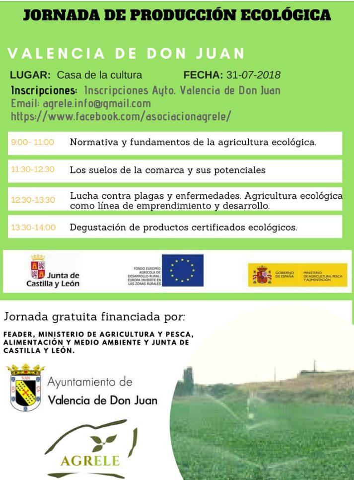 La asociación Agrele organiza mañana una jornada sobre producción ecológica en Valencia de Don Juan 2