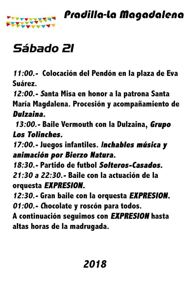Fiestas de La Magdalena 2018 en Pradilla 2