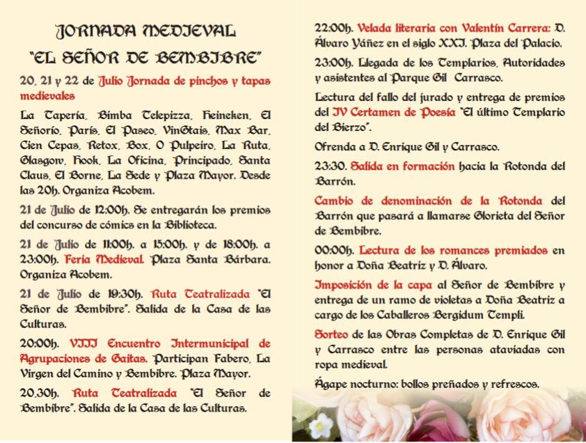 "Jornada Medieval ""Señor de Bembibre"" 2"