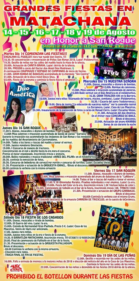 Fiestas de San Roque 2018 en Matachana