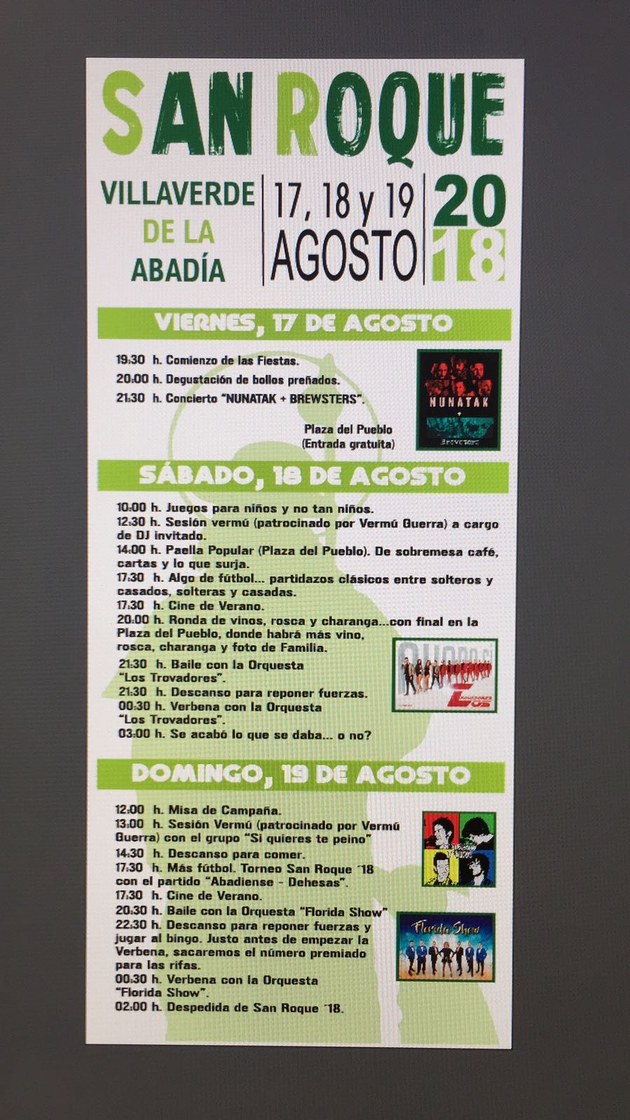 Fiestas de San Roque 2018en Villaverde de la Abadía 2