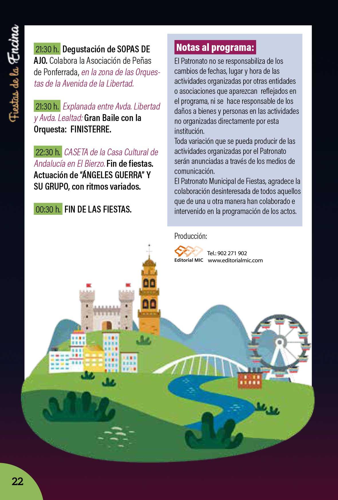 Programa de las Fiestas de la Encina 2018 22
