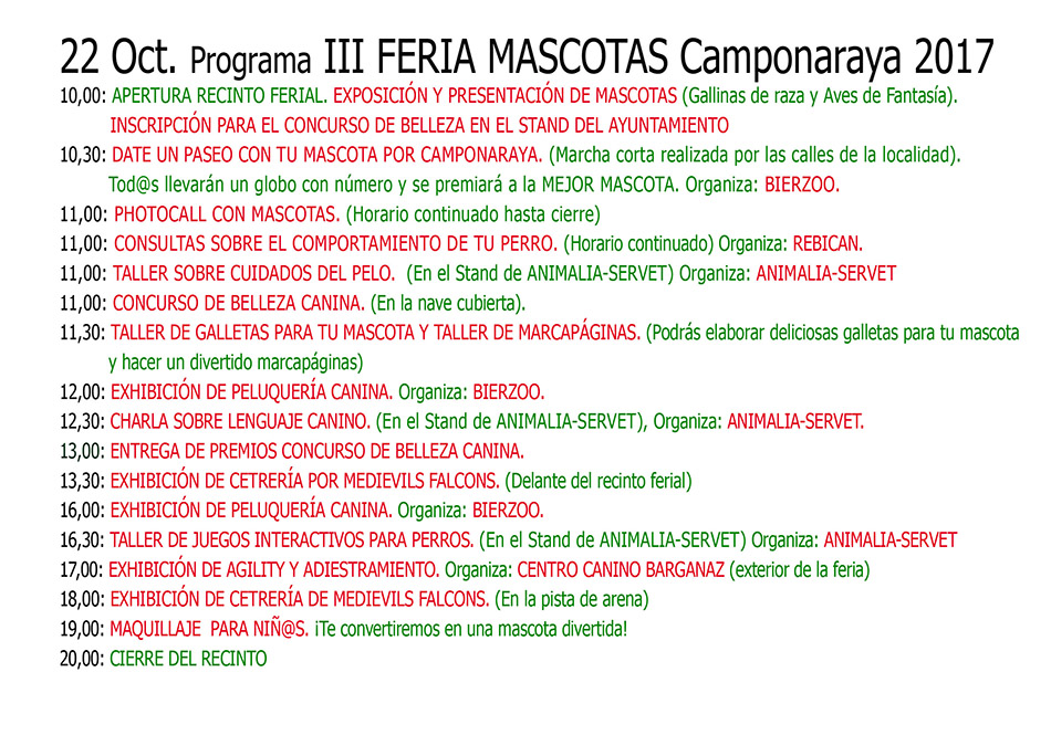IV Feria de Mascotas. Camponaraya 2