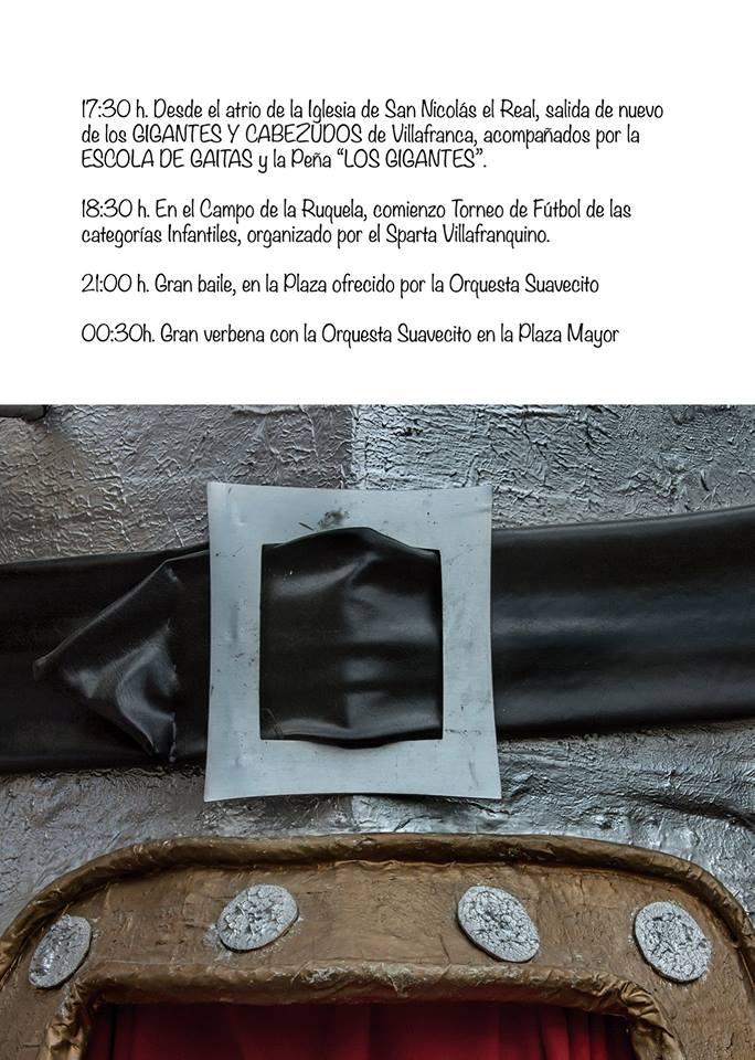Programa de fiestas del Cristo de la Esperanza 2018 en Villafranca del Bierzo 6