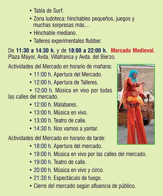 Planes en Ponferrada y El Bierzo para el fin de semana. 14 al 16 de septiembre 2018 22