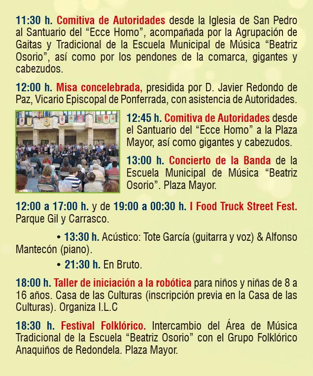 Planes en Ponferrada y El Bierzo para el fin de semana. 14 al 16 de septiembre 2018 23