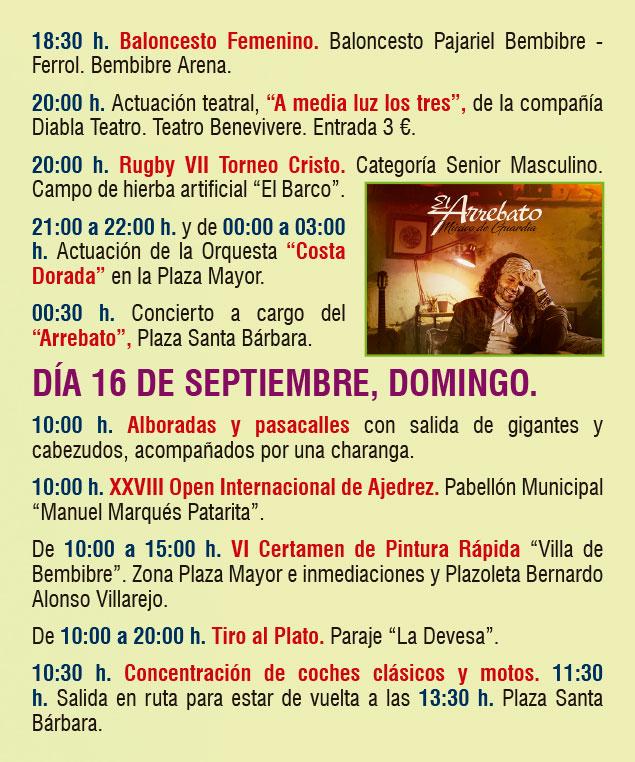 Planes en Ponferrada y El Bierzo para el fin de semana. 14 al 16 de septiembre 2018 24