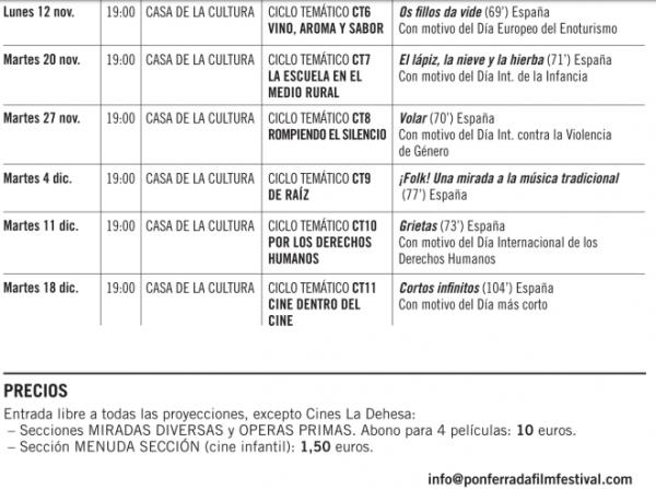 Festival internacional de Cine de Ponferrada 5